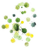 Green and yellow blots Royalty Free Stock Images