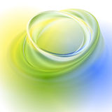 Green yellow blue abstract background. With light circles and shadows Royalty Free Stock Image
