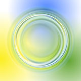 Green yellow blue abstract background. With light circles and shadows Stock Images