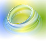 Green yellow blue abstract background. With light circles and shadows Royalty Free Stock Photos