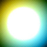 Green yellow blue geometric background Stock Image