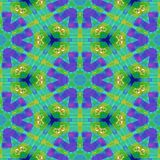 Green yellow blue purple starry kaleidoscopic wallpaper royalty free illustration