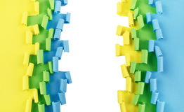 Green yellow blue ripped paper background Royalty Free Stock Photos