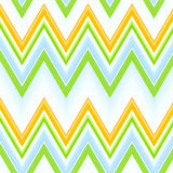 Green, yellow and blue zizgzag pattern Royalty Free Stock Images