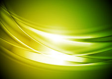 Green yellow blurred abstract waves background Royalty Free Stock Images