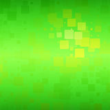 Green yellow brown shades glowing rounded tiles background Stock Images