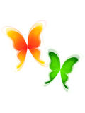 Green and yellow butterflys Stock Photography