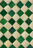 Green and yellow ceramic tile Stock Photos