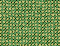 Green and yellow checked fabric tablecloth Stock Photo