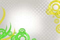green and yellow circle, abstract background Royalty Free Stock Photo
