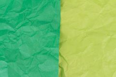 green and yellow crumpled paper texture background Royalty Free Stock Photo