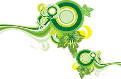 Green and yellow decorative design Stock Photo