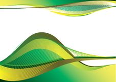 Green and yellow decorative design Stock Images