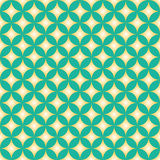 Green & Yellow Diamond Star Circle Pattern Royalty Free Stock Image