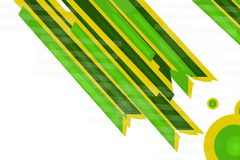 green and yellow double lines, abstract background Stock Image