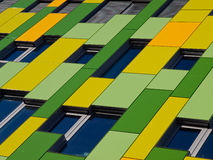 Green and yellow facade. Stock Photography