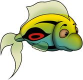 Green-Yellow fish Royalty Free Stock Image