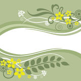 Green and yellow floral borders. Vector illustration Royalty Free Stock Image