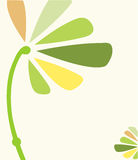 Green yellow floral template Stock Photos
