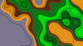 Green yellow fluid vivid lines background, soft mix contrasts, lines, shapes, graphics. Abstract background and texture. Graphics, soft vivid lights, mix stock illustration