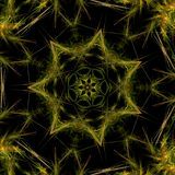 Green and Yellow Fractal Star Stock Photos
