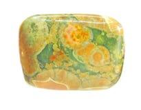 Green and yellow jasper crystal stock photo
