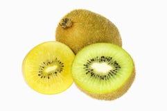 Green and Yellow Kiwi Fruit Stock Photography