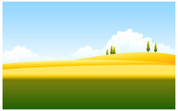 Green and yellow landscape Stock Photos