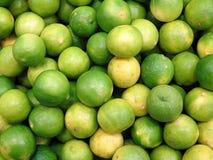 Green and Yellow Lemon Stock Photography