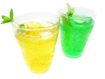 Green and yellow lemonade Stock Photography