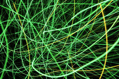 Green and Yellow light display, colored laser Royalty Free Stock Image