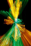 Green and yellow light explosion Royalty Free Stock Images