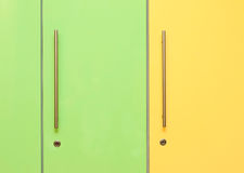 Green and Yellow Lockers Royalty Free Stock Images