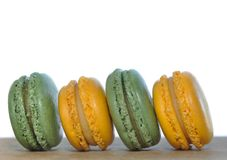 Green and yellow macaroons Royalty Free Stock Image