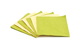 Green and yellow napkins. Stock Image