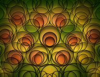 Green yellow and orange abstract background Royalty Free Stock Image