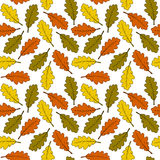Green Yellow Orange Leaves Seamless Stock Photos