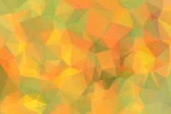 Green yellow orange low poly background Royalty Free Stock Photos