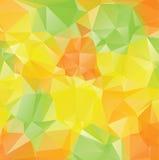 Green Yellow Orange Polygons Royalty Free Stock Photo