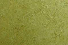 Green-yellow paint. Flavovirent paint with deep scratches Royalty Free Stock Photos