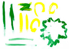 Green and Yellow Painting Royalty Free Stock Images