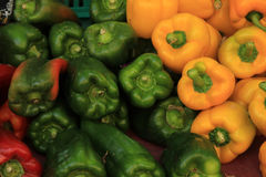 Green and yellow paprika Royalty Free Stock Photos