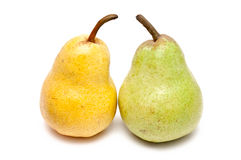 Green and yellow pear Royalty Free Stock Photos