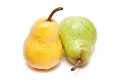 Green and yellow pear Stock Photography