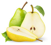 Green and yellow pears Royalty Free Stock Photo