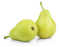 Green yellow pears on white Royalty Free Stock Image