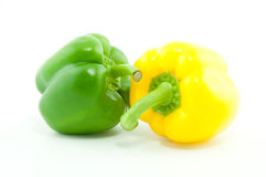 A green and yellow pepper Stock Photo