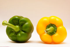 Green and yellow pepper Stock Image