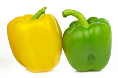Green and yellow peppers Royalty Free Stock Image
