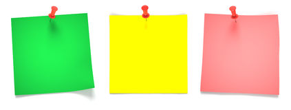 Green, yellow, pink papers Royalty Free Stock Image